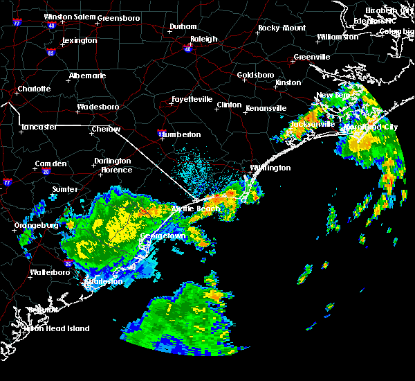 Radar Image for Severe Thunderstorms near Ocean Isle Beach, NC at 9/2/2017 6:03 AM EDT