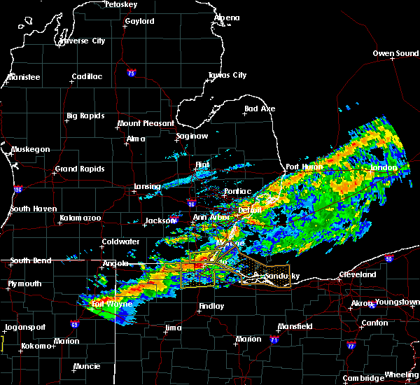 Radar Image for Severe Thunderstorms near Toledo, OH at 9/4/2017 7:12 PM EDT