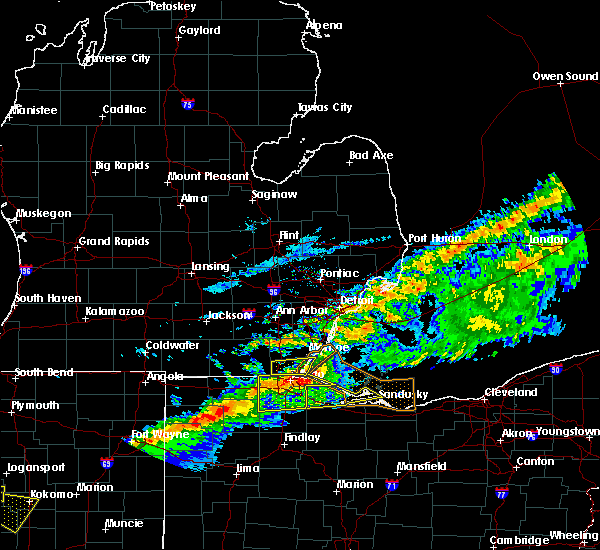Radar Image for Severe Thunderstorms near Toledo, OH at 9/4/2017 7:28 PM EDT