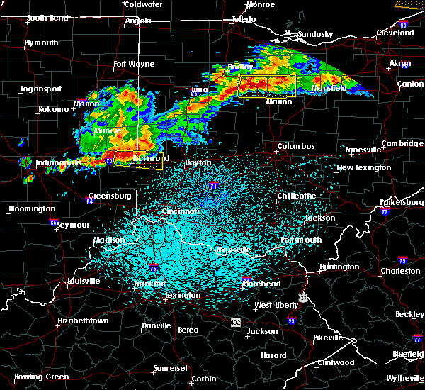 Radar Image for Severe Thunderstorms near Bradford, OH at 9/4/2017 10:23 PM EDT