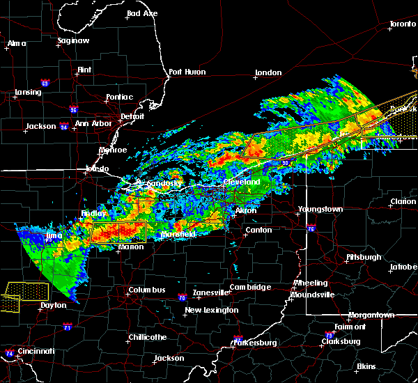 Radar Image for Severe Thunderstorms near Chatfield, OH at 9/4/2017 10:33 PM EDT