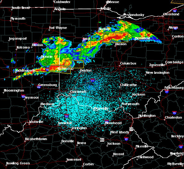 Radar Image for Severe Thunderstorms near Whitewater, IN at 9/4/2017 10:32 PM EDT