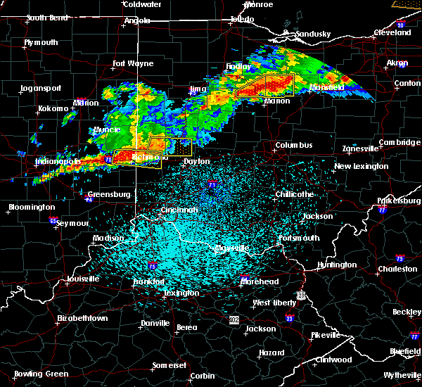 Radar Image for Severe Thunderstorms near Dayton, OH at 9/4/2017 10:35 PM EDT