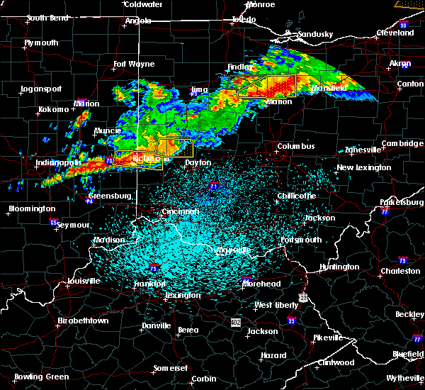 Radar Image for Severe Thunderstorms near Dayton, OH at 9/4/2017 10:45 PM EDT