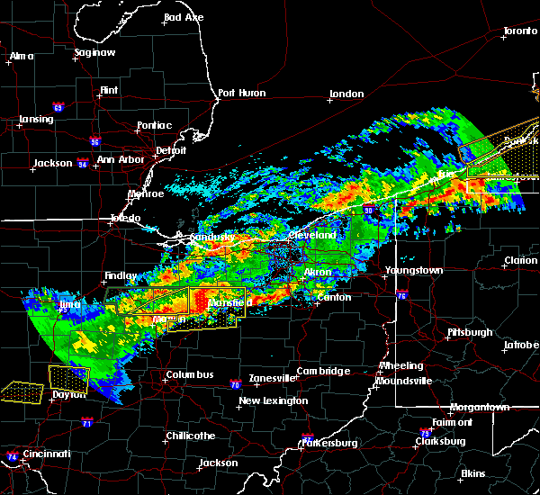 Radar Image for Severe Thunderstorms near Polk, OH at 9/4/2017 11:03 PM EDT