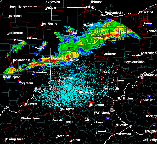 Radar Image for Severe Thunderstorms near Springfield, OH at 9/4/2017 11:15 PM EDT