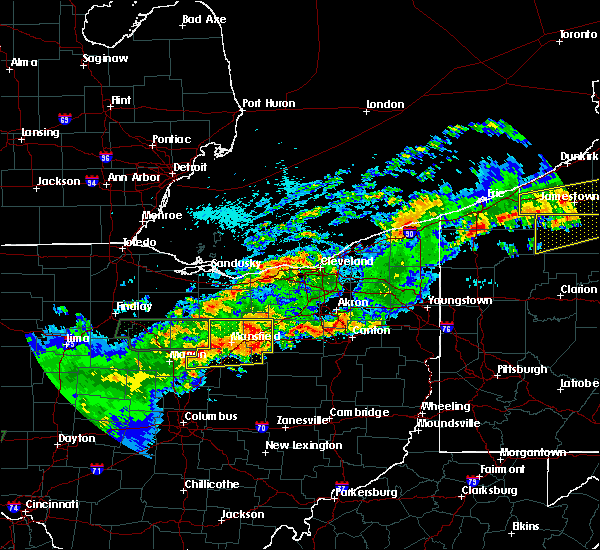 Radar Image for Severe Thunderstorms near Polk, OH at 9/4/2017 11:24 PM EDT