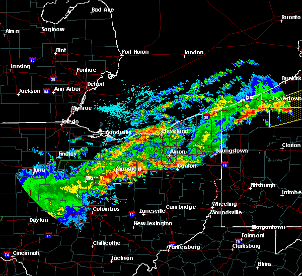 Radar Image for Severe Thunderstorms near Mansfield, OH at 9/4/2017 11:34 PM EDT