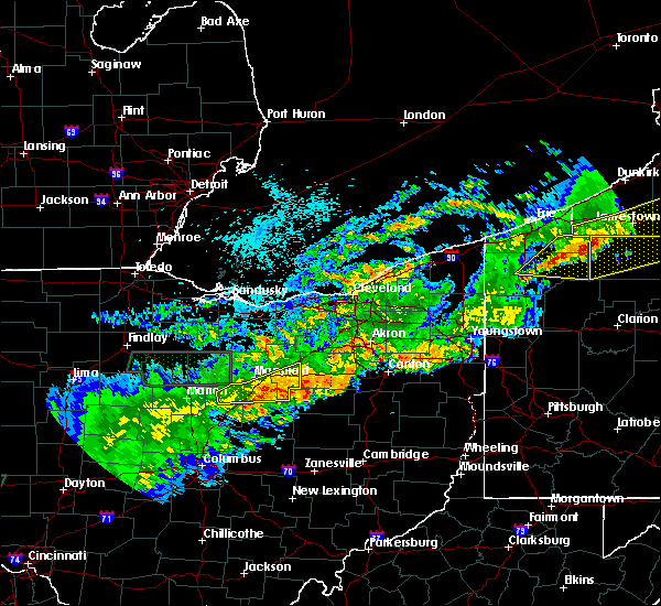 Radar Image for Severe Thunderstorms near Lucas, OH at 9/4/2017 11:54 PM EDT