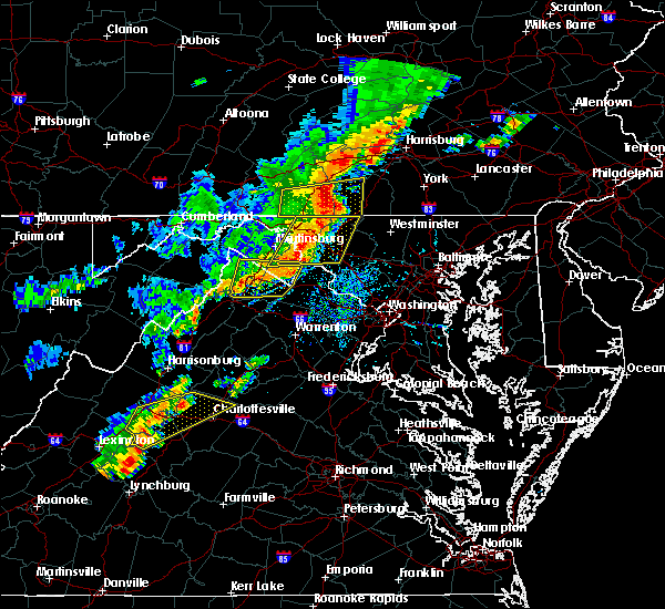 Radar Image for Severe Thunderstorms near Charles Town, WV at 9/5/2017 3:54 PM EDT