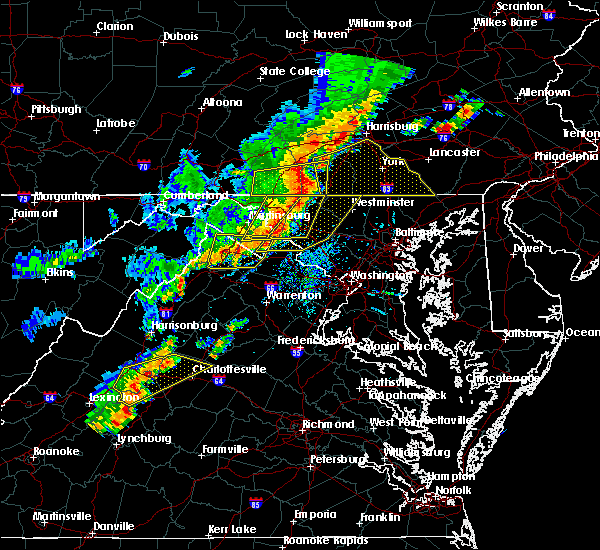 Radar Image for Severe Thunderstorms near Charles Town, WV at 9/5/2017 3:57 PM EDT