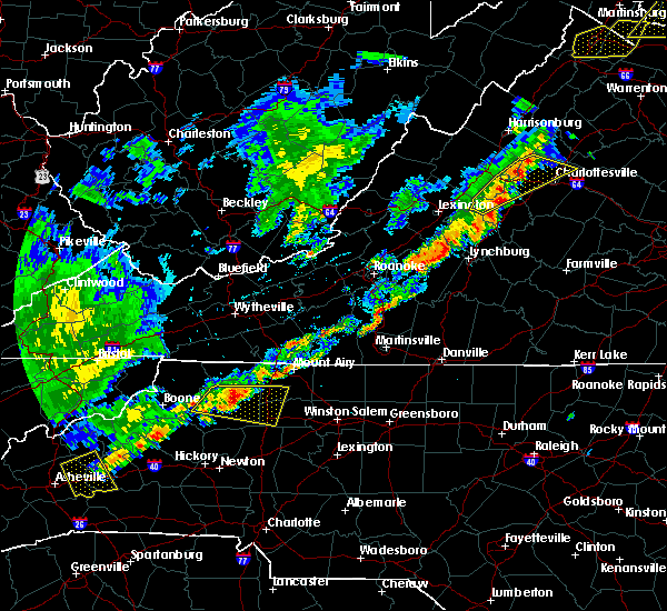 Radar Image for Severe Thunderstorms near Wintergreen, VA at 9/5/2017 4:03 PM EDT
