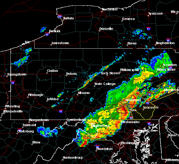 Radar Image for Severe Thunderstorms near Lampeter, PA at 9/5/2017 4:40 PM EDT
