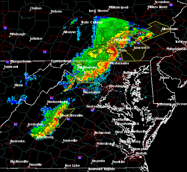 Radar Image for Severe Thunderstorms near Charles Town, WV at 9/5/2017 4:40 PM EDT