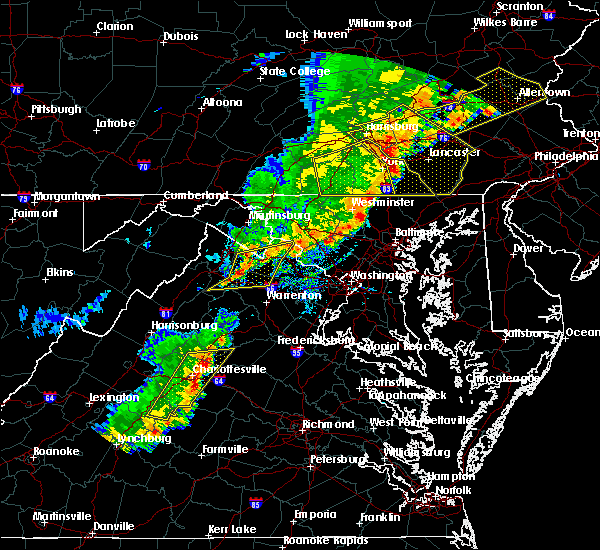 Radar Image for Severe Thunderstorms near Dover, PA at 9/5/2017 4:56 PM EDT