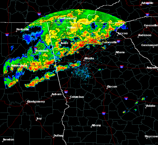 Radar Image For Severe Thunderstorms Near Gainesville GA At 9 5 2017 6