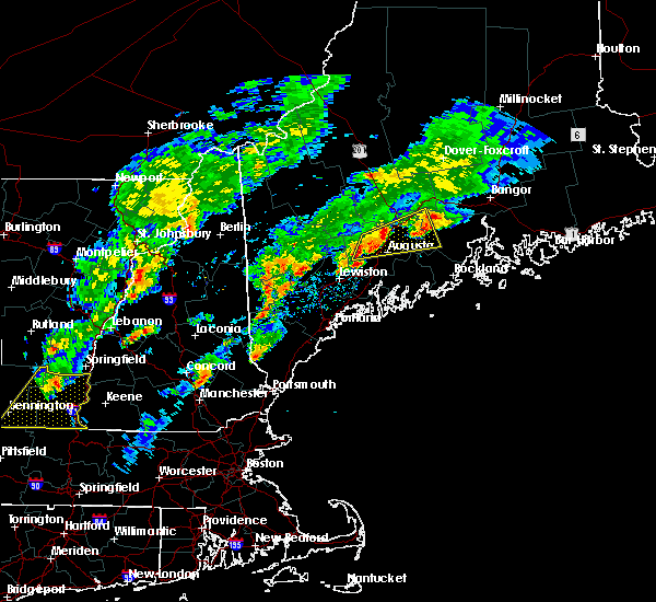Radar Image for Severe Thunderstorms near Orono, ME at 9/5/2017 7:11 PM EDT