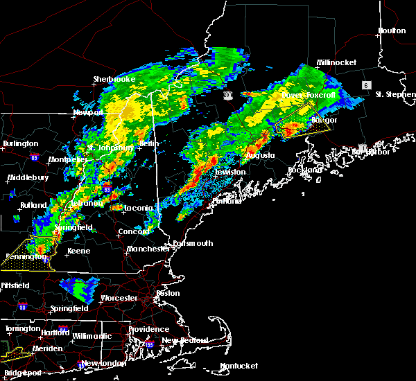 Radar Image for Severe Thunderstorms near Orono, ME at 9/5/2017 7:35 PM EDT