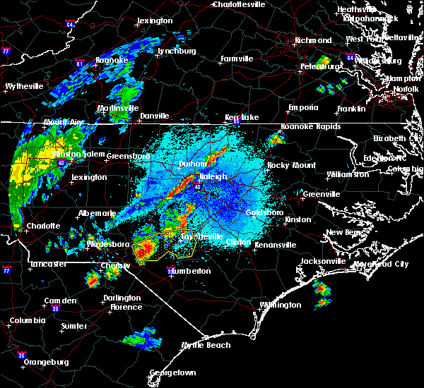 Radar Image for Severe Thunderstorms near Vander, NC at 9/5/2017 8:57 PM EDT