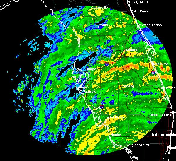 Radar Image for Severe Thunderstorms near Lakeland, FL at 9/10/2017 11:09 AM EDT