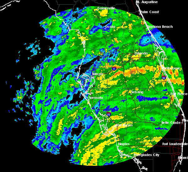 Radar Image for Severe Thunderstorms near Lakeland, FL at 9/10/2017 11:13 AM EDT