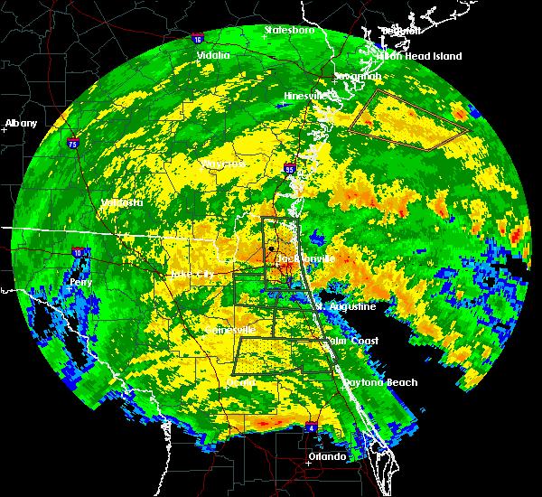 Radar Image for Severe Thunderstorms near Jacksonville, FL at 9/11/2017 3:40 AM EDT