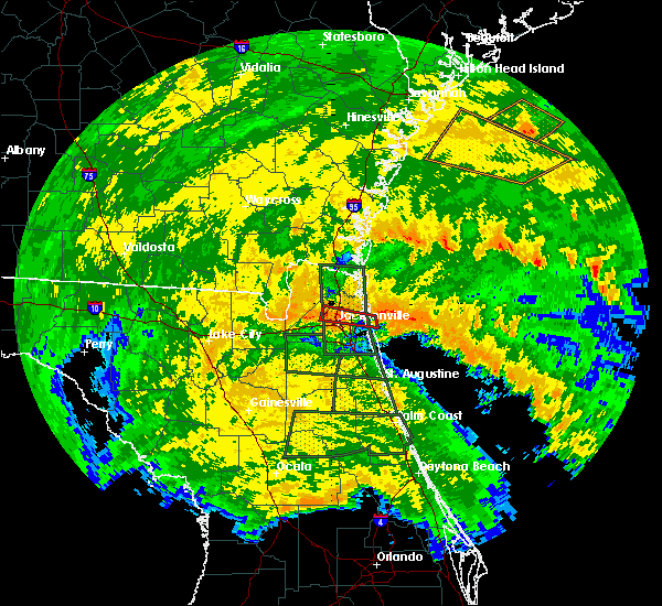 Radar Image for Severe Thunderstorms near Jacksonville, FL at 9/11/2017 3:57 AM EDT