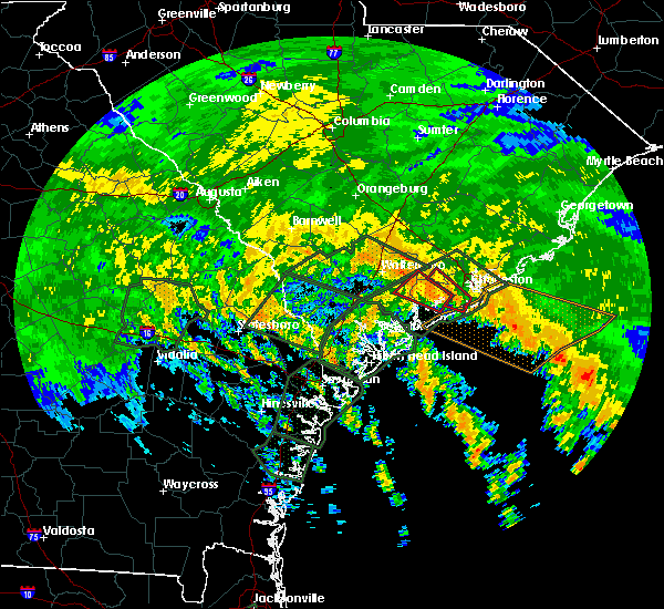Radar Image for Severe Thunderstorms near Ravenel, SC at 9/11/2017 1:57 PM EDT