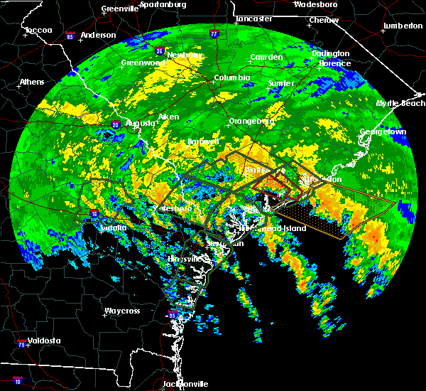 Radar Image for Severe Thunderstorms near Ravenel, SC at 9/11/2017 2:07 PM EDT