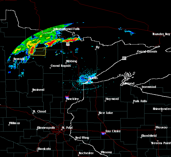 Radar Image for Severe Thunderstorms near Northome, MN at 9/14/2017 3:27 PM CDT