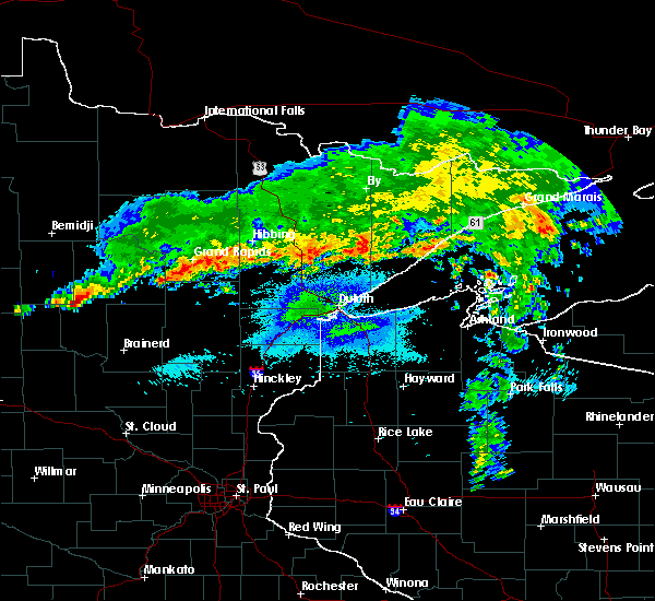 Radar Image for Severe Thunderstorms near Chickamaw Beach, MN at 9/14/2017 10:51 PM CDT