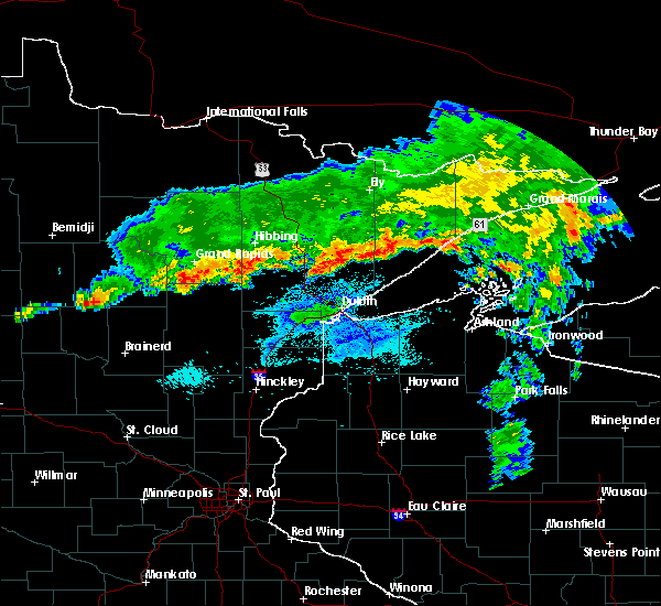 Radar Image for Severe Thunderstorms near Chickamaw Beach, MN at 9/14/2017 11:09 PM CDT