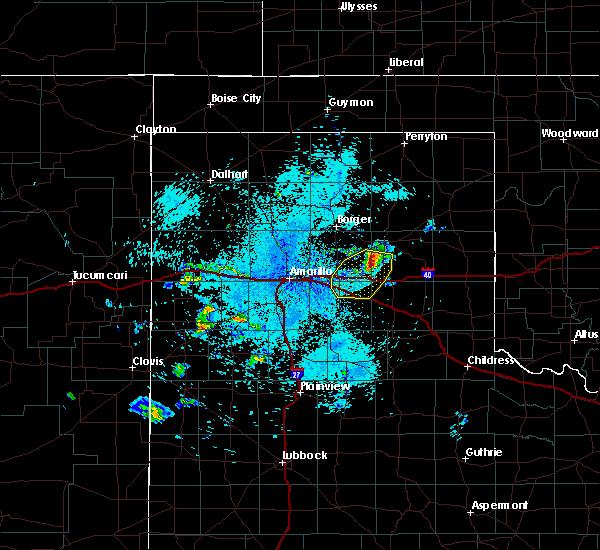 Radar Image for Severe Thunderstorms near White Deer, TX at 9/15/2017 9:50 PM CDT