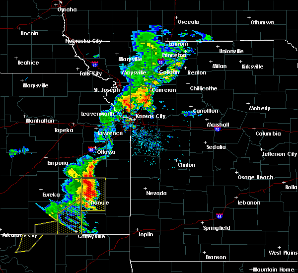 Radar Image for Severe Thunderstorms near Gas, KS at 9/16/2017 4:15 PM CDT