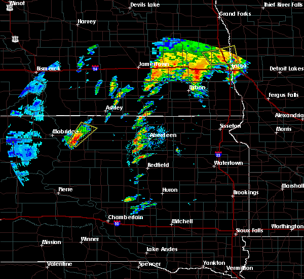 Radar Image for Severe Thunderstorms near Westport, SD at 9/19/2017 6:43 PM CDT
