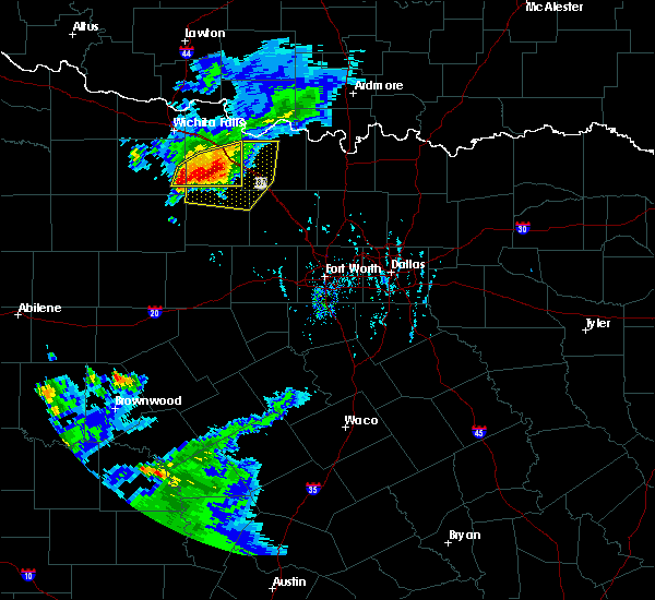 Radar Image for Severe Thunderstorms near Bowie, TX at 9/19/2017 6:49 PM CDT