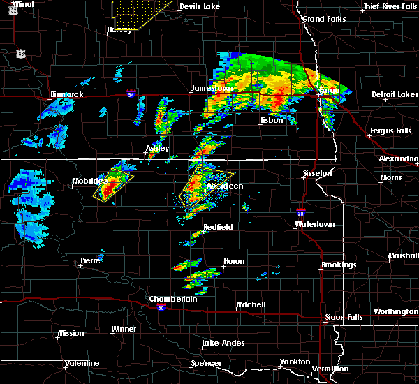 Radar Image for Severe Thunderstorms near Westport, SD at 9/19/2017 6:58 PM CDT