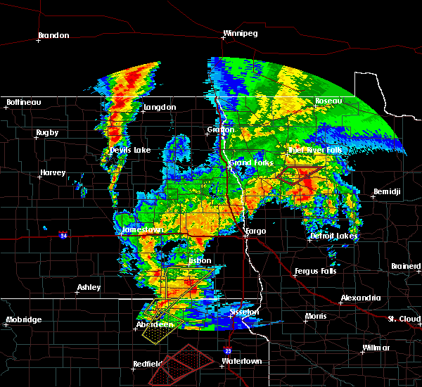 Radar Image for Severe Thunderstorms near Oklee, MN at 9/19/2017 9:06 PM CDT