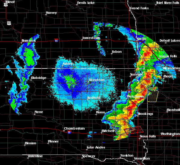 Radar Image for Severe Thunderstorms near Barry, MN at 9/19/2017 11:14 PM CDT