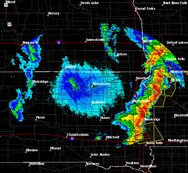 Radar Image for Severe Thunderstorms near Morris, MN at 9/19/2017 11:29 PM CDT