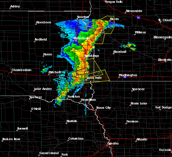 Interactive Hail Maps Hail Map for Sioux Falls SD