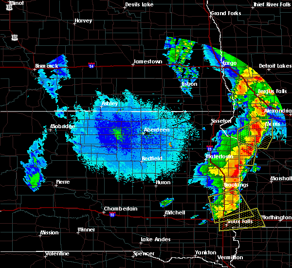 Radar Image for Severe Thunderstorms near Morris, MN at 9/19/2017 11:47 PM CDT