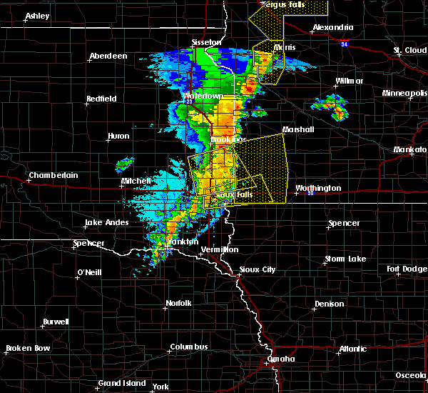 Radar Image for Severe Thunderstorms near Adrian, MN at 9/19/2017 11:50 PM CDT