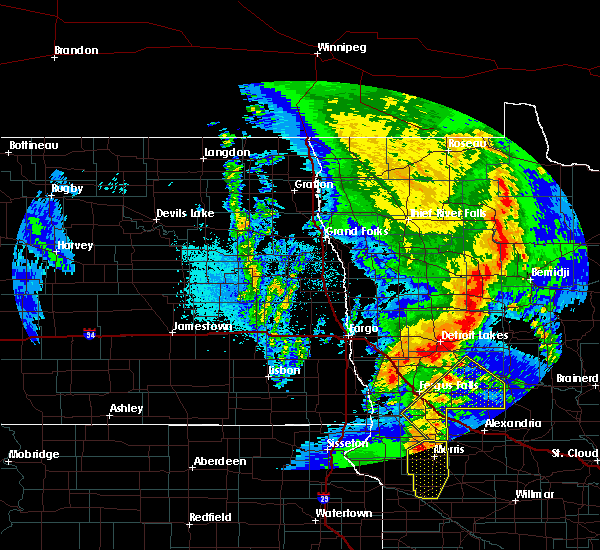 Radar Image for Severe Thunderstorms near Fergus Falls, MN at 9/19/2017 11:50 PM CDT