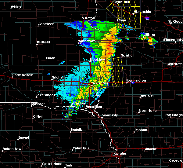 Radar Image for Severe Thunderstorms near Adrian, MN at 9/20/2017 12:05 AM CDT