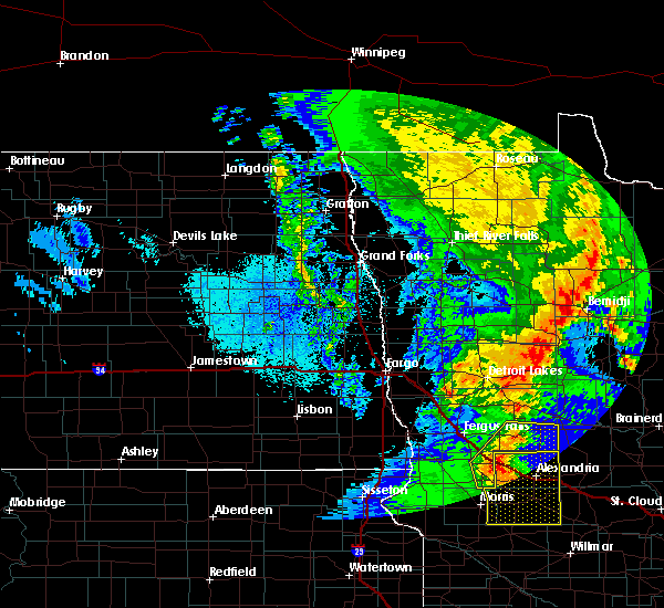 Radar Image for Severe Thunderstorms near Henning, MN at 9/20/2017 12:15 AM CDT
