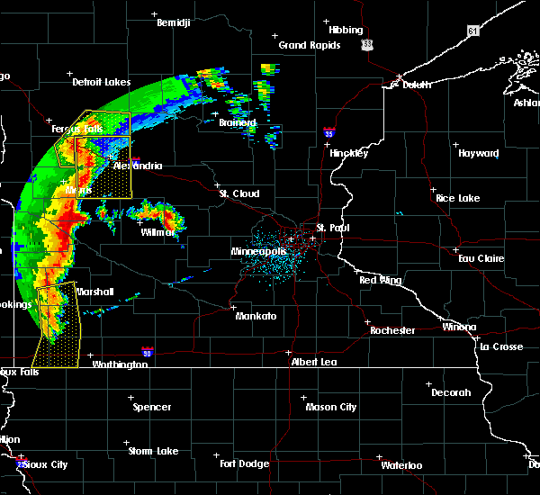 Radar Image for Severe Thunderstorms near Cyrus, MN at 9/20/2017 12:20 AM CDT
