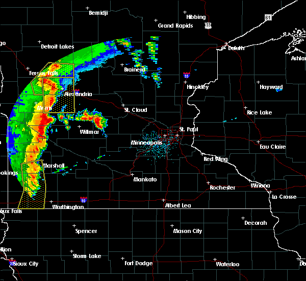 Radar Image for Severe Thunderstorms near Benson, MN at 9/20/2017 12:27 AM CDT