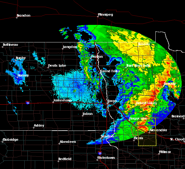 Radar Image for Severe Thunderstorms near Barrett, MN at 9/20/2017 12:27 AM CDT