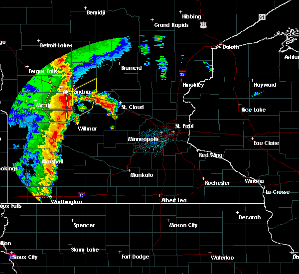 Radar Image for Severe Thunderstorms near West Union, MN at 9/20/2017 12:45 AM CDT